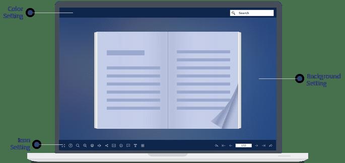 personalizza il flipbook liberamente