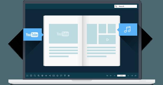 aggiungi multimedia al flipbook digitale
