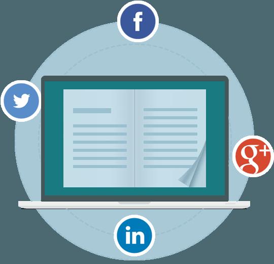 condividi il flipbook sui social media